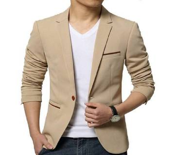 Off White Sinthetic Casual Blazer