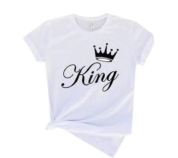 king HALF SLEEVE COTTON T-SHIRT FOR MEN T-shirt