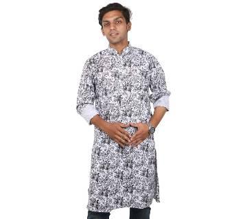 Gents Semi Long Cotton Panjabi