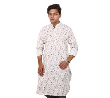 Gents Semi Long Cotton Panjabi
