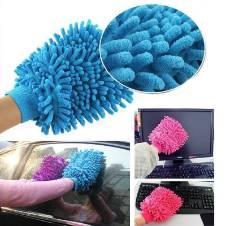 Microfibre Wash and Dust Mitt Cleaning Gloves - 2 Pcs