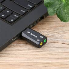 USB Audio Sound Card Adapter for PC Laptop