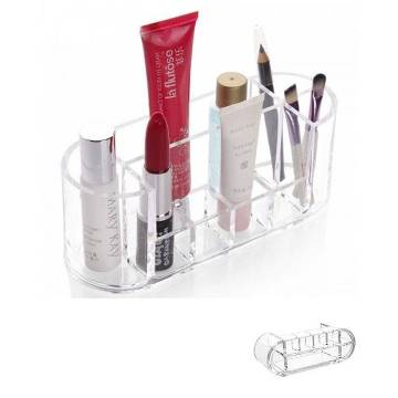 Oval Shape Cosmetics Holder - Acrylic