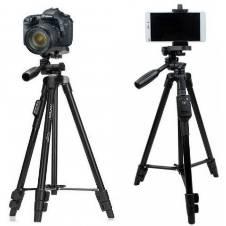 Yunteng VCT-5208 Bluetooth Professional Tripod Camera Stand - Black