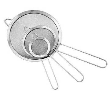 Stainless Steel ছাঁকনি - 3Pcs - Silver