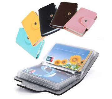 Multicolour Leather Visiting Card Holder