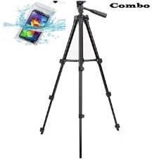 কম্বো Tripod stand for Camera or Mobile & Waterproof Mobile Bag