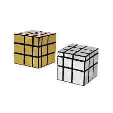 Pack Of 2 Golden & Silver মিরর কিউব - 3X3X3