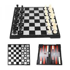 3 In 1 Super Quality Magnetic Chess//Backgammon