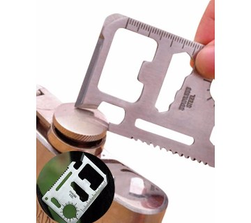11 in 1 Army Survival Tool Card