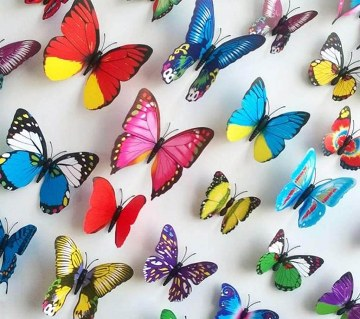 Butter Fly Wall Sticker - 8 pieces