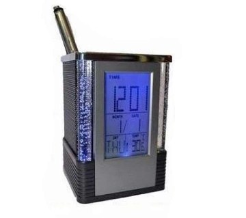 6 in 1 Digital Pen Holder Clock