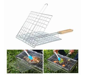 BBQ Meshes Clamp Food Clip (Hand Net)