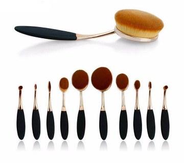 Professional Make Up Brush Set (10 Pcs)