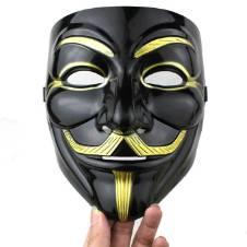 Vendetta Mask - Black & Golden