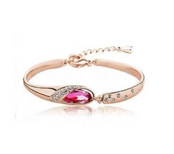 Sterling Golden Crystal Bracelet