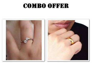 Combo offer Rose gold plated Finger Ring for man and women