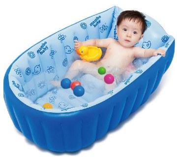 Inflatable bathtub for babies