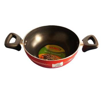 Hamko HA12-01 (TH Wokpan with Glass Lid Red-20 CM)