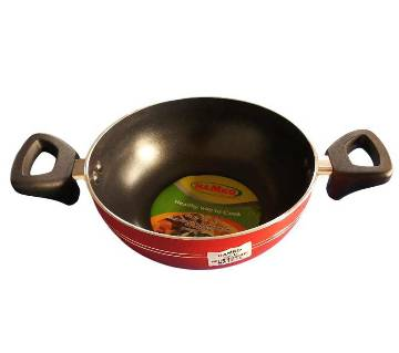Hamko HA12-02 (TH Wokpan with Glass Lid Red-22 CM)