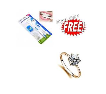 Buy One Toothbrush For Oral Care & Get One Finger Ring Free