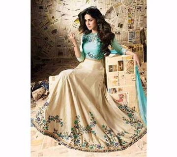 Semi-stitched Georgette Embroidery Long Party Suit (copy)