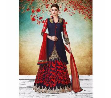 Un stitched Georgette embroidery lehenga
