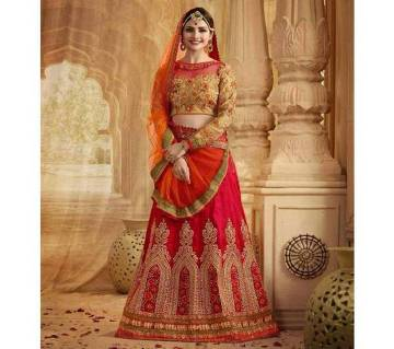 semi stitched Georgette embroidery lehenga- copy