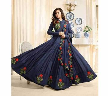 Semistitched Georgette Embroidery Long Party Suit (Copy)