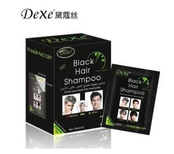 Dexe Black Hair Colour Shampoo For Men & Women