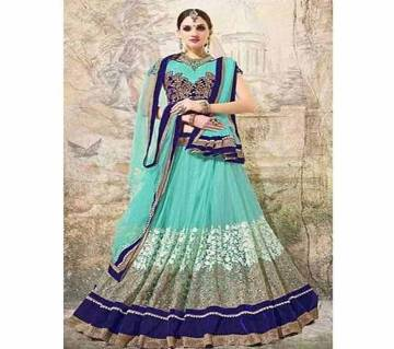 Unstitched Georgette Embroidery Lehenga copy
