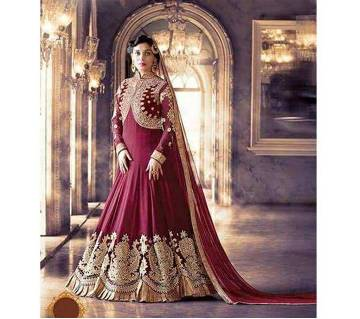 Unstitched georgette Embroidery Three piece copy