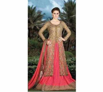 Semistitched Georgette Embroidery Long Dress copy