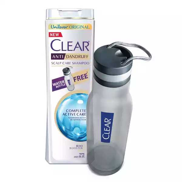 Clear Complete Active Care Shampoo (Free Water Bottle) 350 Ml