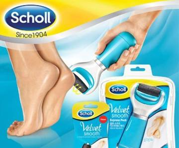SCHOLL VELVET Electric Pedicure