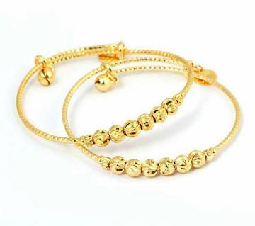 Gold plated bracelet 1 pair