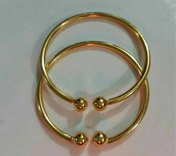 Gold plated bangles for babies-1 pair
