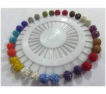 Stone setting hijab pin 30 pc