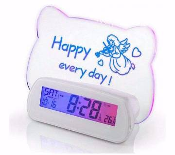 Message Board With Digital Clock