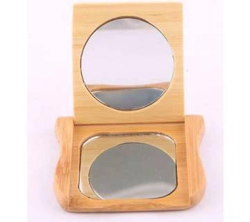 Wooden make up mirror