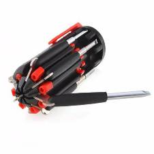 8 IN 1 Multi Screw Driver With Torch