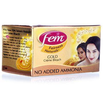 FEM Fairness Naturals Gold Cream Bleach (India)