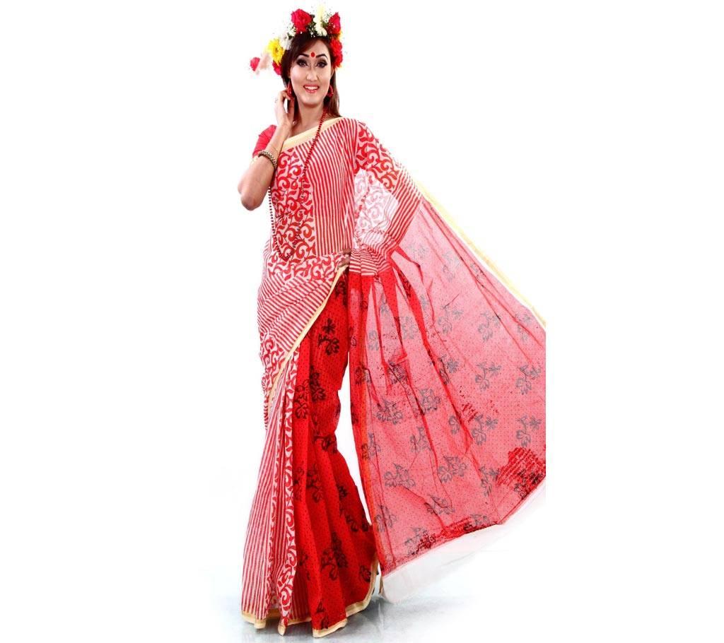 কটন কোটা হ্যান্ড প্রিন্ট শাড়ি বাংলাদেশ - 639105