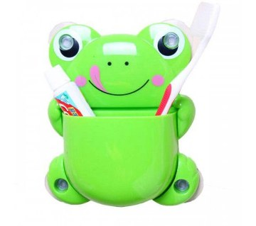 Frog shaped toothbrush holder (1 pc)