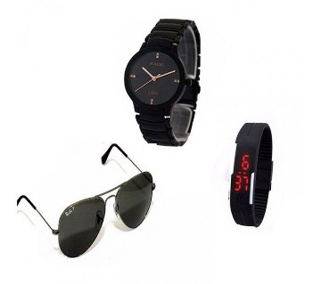 Rado watch+LED watch+Ray Ban sunglass combo offer