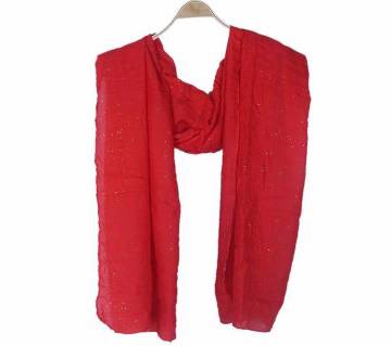 Red Cotton Casual Scarves