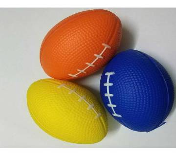 Rugby Ball Squishy Stress Relief - 3pcs