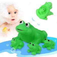 4pcs/Set Frog Shaped Bath Shower Float স্কোয়াকি টয়
