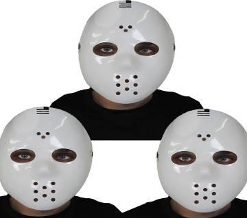 Hockey White Jason Killer Halloween মাস্ক - ৩ পিস প্যাক