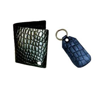 Apple Leather Coated Wallet with Key Ring